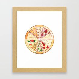 Feast of St. Pizza: Lebanon Edition Framed Art Print