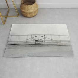 The Wright Brother's aeroplane Rug
