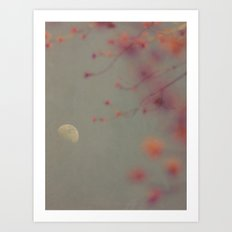 Moon in the Mist Art Print
