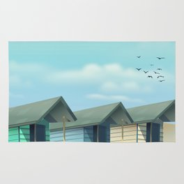 Great Yarmouth Beach travel poster Rug