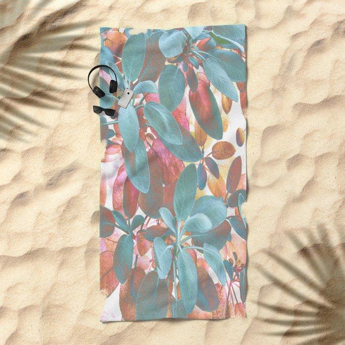 Leaves Wonder Beach Towel