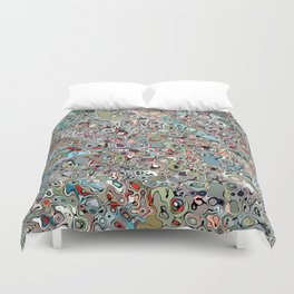Abstract Digital Doodle Duvet Cover