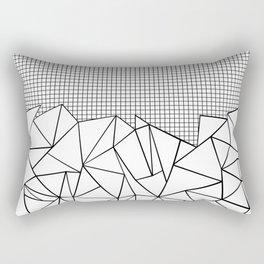 Abstract Outline Grid Black on White Rectangular Pillow