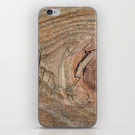 Wood with knot iPhone Skin