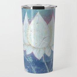 Abstract Lotus Art Acrylic Painting Reproduction by Kimberly Schulz Travel Mug