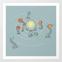 solar system Art Prints featuring Solar System by I Love Doodle