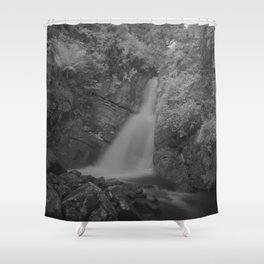 La Mina Falls IR Shower Curtain