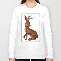 jackalope Long Sleeve T-shirts featuring Jackalope by Sarah DC