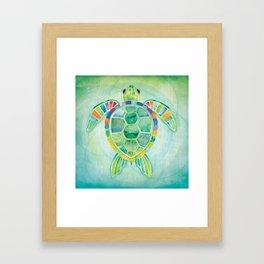 SHANTI SPARROW: Byron the Turtle Framed Art Print