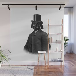 Lord Vadersworth (grayscale) Wall Mural