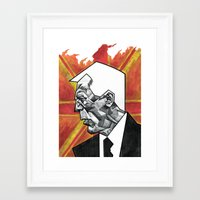 james bond Framed Art Prints featuring James Bond by MacNaughtonArt
