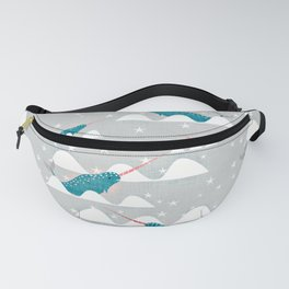 Sea unicorn - Narwhal grey Fanny Pack