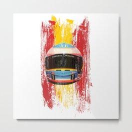 Fernando Alonso #14 - 2017 Metal Print