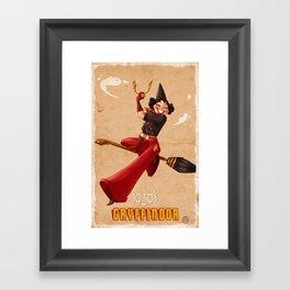 1930s Gryffindor Inspired girl Framed Art Print