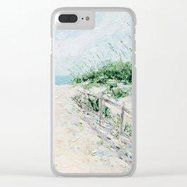 Sandbridge Dunes Clear iPhone Case