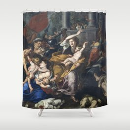 Milan - paint of Massacre of the Innocents from San Eustorgio church Shower Curtain