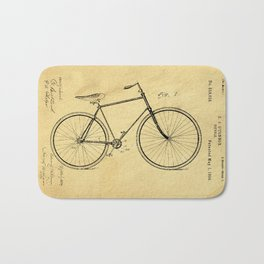 Bicyole Support Patent Drawing From 1894 Bath Mat