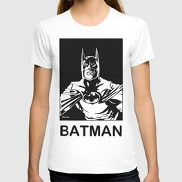 ( Michael Keaton 1989 )  A Costumed Hero by Peter Melonas T-shirt