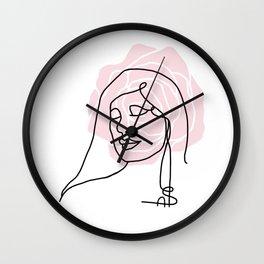 Woman and Rose Wall Clock