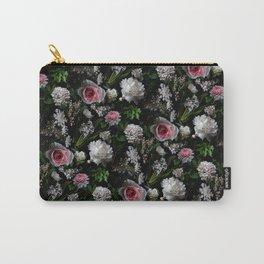 Midnight Garden Blush Florals Carry-All Pouch