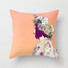 Geisha Under the Sun Throw Pillow