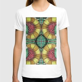 Morning Raspberry Clusters by William De Morgan Floral Textile Print T-shirt