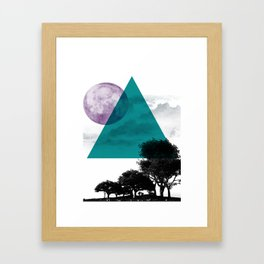 Free on The Moon Framed Art Print