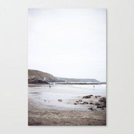 Blue Cornish Beach Canvas Print