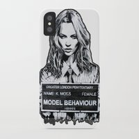 kate moss iPhone & iPod Cases featuring Kate Moss by Merlin Dobaryan