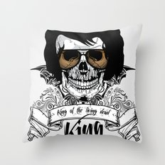 Elvis Presley | The King of the Living Dead Throw Pillow