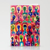 aliens Stationery Cards featuring aliens  by Verismaya