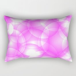Gentle intersecting pink translucent circles in pastel colors with a crimson glow. Rectangular Pillow