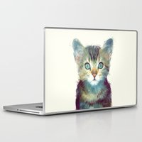 cat Laptop & iPad Skins featuring Cat // Aware by Amy Hamilton