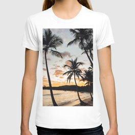 Sunset Through the Palm Trees T-shirt