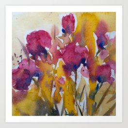Abstract flowers (2) Art Print