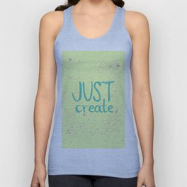 Motivation to be creative. Just create colorful lettering. Unisex Tank Top