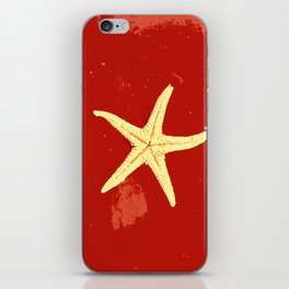 red seashell iPhone Skin