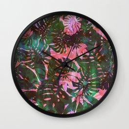 Motuu Tropical pink & green Wall Clock
