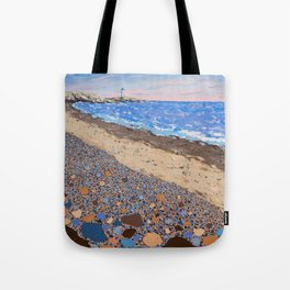 Seaside Popples with Lighthouse Tote Bag
