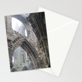 Whitby Abbey in Fog #2 Stationery Cards