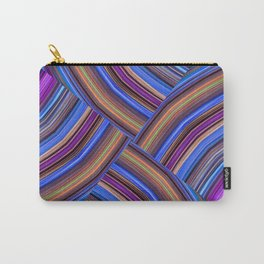 Purple and Blue Pattern Zigzag Carry-All Pouch