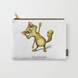yoga cat Trikonasana Carry-All Pouch