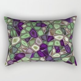 Fractal Gems 02 - Purples and Greens Rectangular Pillow