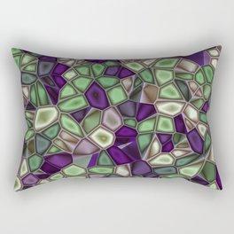 Fractal Gems 02 - Purples and Greens Rectangular Pillow