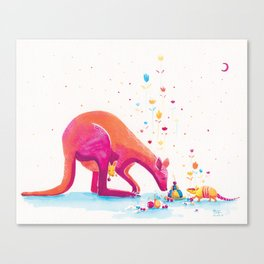 Princess Kangaroo Art Print - Armadillo's Generous Offering Canvas Print