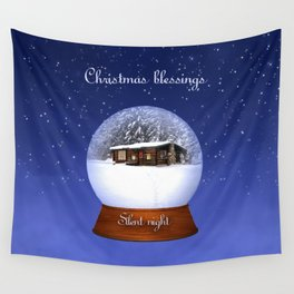 Christmas Blessings Wall Tapestry