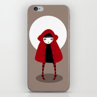 red riding hood iPhone & iPod Skins featuring Little Red Riding Hood by Volkan Dalyan