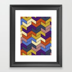 Geometric Chevrons Framed Art Print
