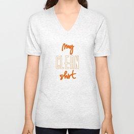 Just a Clean Shirt Unisex V-Neck