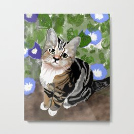 Stewie - The First Kitten Metal Print